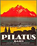 Reise-Poster Pilatus Schweiz Poster Vintage Wandkunst