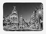 Aliyz España Noche Madrid Ciudad Calle Principal Edificio Antideslizante Alfombra baño Estera Puerta Puerta Exterior decoración habitación Adecuada para baño Sala Estar Dormitorio Cocina