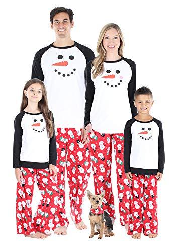 Our Family Pjs Matching Family Christmas Pajama Sets, Fleece Snowman - Kids (OFP-6504-K-8)