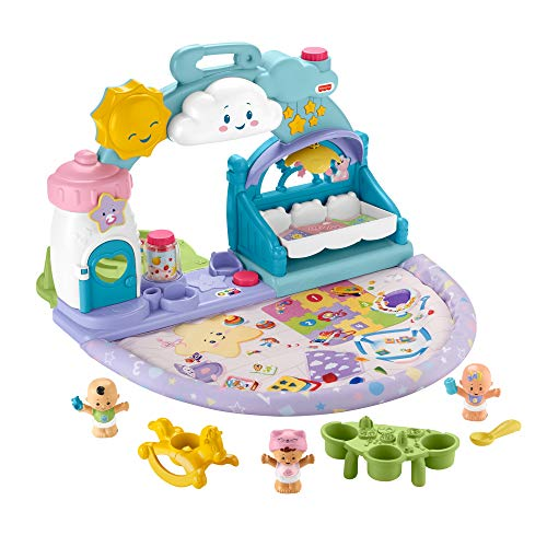 Fisher-Price- Little People, Cameretta Coccole, Playset Musicale con Luci e Canzoncine Juguete para niños 18 + Meses (Mattel GRW93)