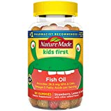 Nature Made Kids First Fish Oil Gummies, 80 Count with 28.5 mg Heart Healthy Omega-3s† (Packaging may vary)