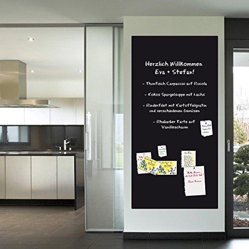 KaRoFoilFIX Selbstklebende und magnetische Folie in Verschiedene Größen   Kreidetafel   Farbe: Schwarz   inkl.Kreidestift   Kreidetafel   Wandfolie (60x100cm)