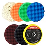 CASOMAN 7-Inch Buffing and Polishing Pad Kit, 7 Pieces 7