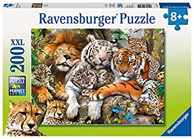 Ravensburger Big Cat Nap 200 Piece Jigsaw Puzzle for Kids – Every Piece is Unique, Pieces Fit Together Perfectly