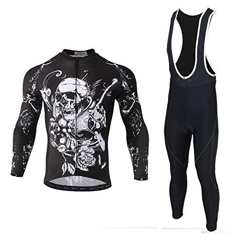 SXSHUN Maillots de Ciclismo para Hombres Ropa de Ciclismo Camisa Manga Larga...
