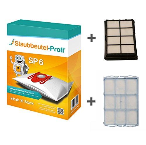 10 Staubbeutel + HEPA-Filter + Motorschutz geeignet für Bosch BSG 40000-49999 terrossa von Staubbeutel-Profi®