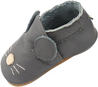 ee15847772812 SXSHUN Chaussures Bébé Cuir Souple Chaussons Cuir Premiers Pas Respirant  pour Filles Garçons 0-24