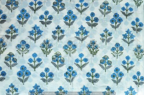 HomeDecorShopie Bedruckte Baumwollstoffe von The Yard, indisch bedruckter Stoff für Sommerkleider, Kurti, Schal, Kissen, Sofabezüge (50 Yards)
