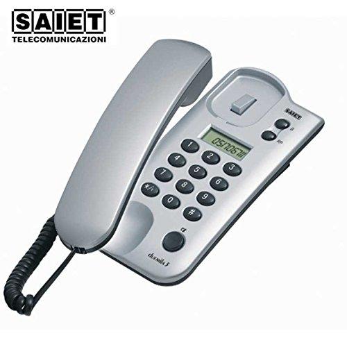 Saiet 13500305 mobiele telefoon bistandard tafel en muur, zilver