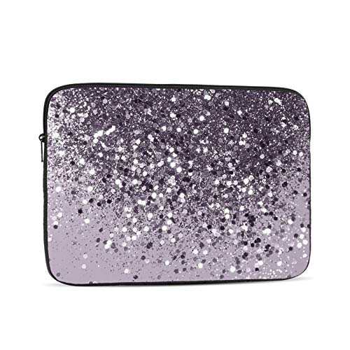 Sparkling Lavender Lady Glitter Shiny Decor Art 13 Inch Laptop Sleeve Bag Compatible with 13.3' Old MacBook Air (A1466 A1369) Notebook Computer Protective Case Cover