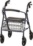 NOVA Medical Products Bariatric Rollator Walker, 400 lb Weight Capacity, Blue