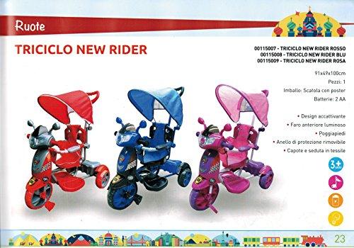 Colibrì - Triciclo New Rider, Rosso