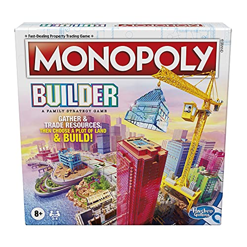 Monopoly Builder Board Game, Strategy Game, Family Game, Games for Kids, Fun Game to Play, Family...