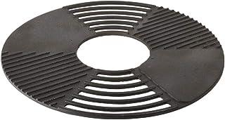 Esschert Design Grillrost/Grillplatte für Feuerschale, aus Gusseisen, Durchmesser 60 x 1,3 cm, mit Rauchrillen und Grill-Fläche