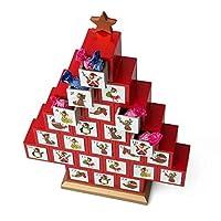 Il gadget natalizio che non puo mancare dentro casa! Decorativo e divertente: nascondi al suo interno tanti piccoli dolcetti! Con 24 piccoli cassetti Realizzato in legno