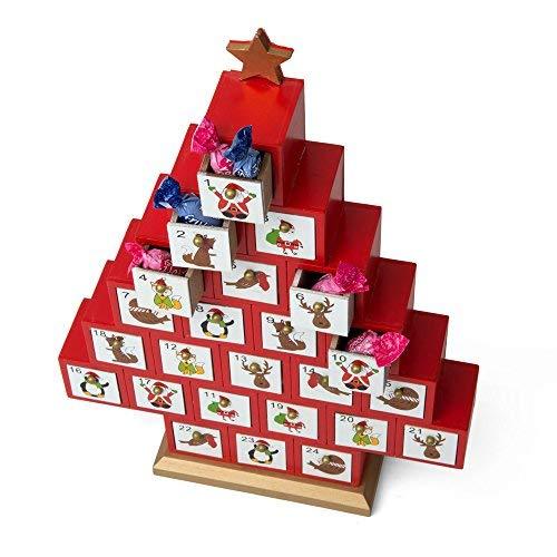 Dmail - Calendario dell'avvento Albero di Natale in Legno