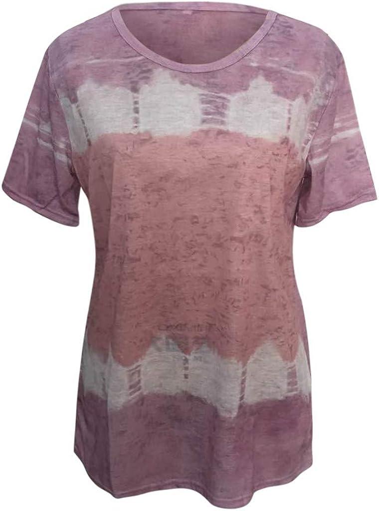 Women Short Sleeve Shirt Funny T-Shirt Casual Letter Print Cute Graphic Summer Tee Tops Tunics Blouses