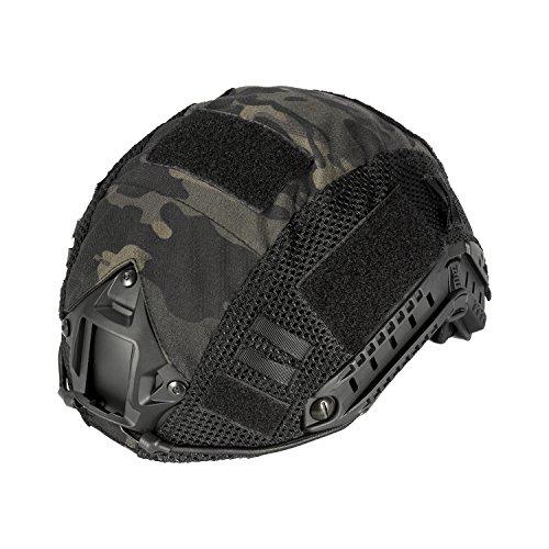 OneTigris Taktische Helmüberzug Helm Abdeckung (Schwarz Multicam)