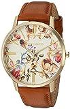 Vince Camuto VC/5322FLHY Reloj con correa de piel café y tono dorado para mujer