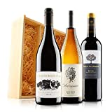 Classic Mixed Wine Trio in Wooden Gift Box - 3 Bottles (