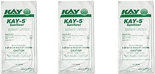 Kay 5 Sanitizer/Cleaner for Soda Fountain Machine, Coke, Bunn, Granita Cleanser (Pack of 3)