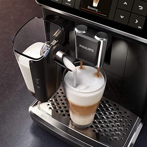 Philips EP5441/50 Serie 5400 -Cafetera superautomática, 12 variedades de café, Tecnología LatteGo, Molinillo cerámico, Pantalla táctil