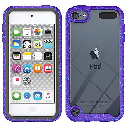Hnzxy Trasparente Custodia Cover per iPhone 6S Plus/iPhone 6 Plus, Antiurto Rugged Custodia Full Body Soft Silicone TPU Rigida PC Sottile Bumper Protettiva Case per iPhone 6S Plus,Colore Viola