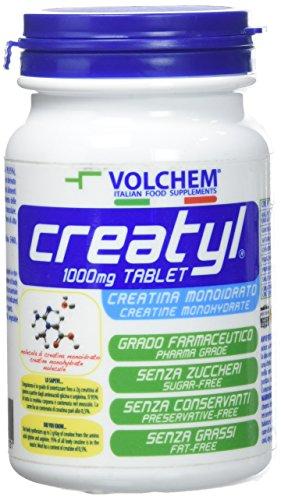 Volchem Creatyl 1000 Mg Tablet / Integratore Creatina Monoidrato / 120 Compresse