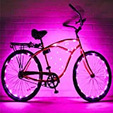 Luz de la bici 2 Juego de cuerdas de luz de la rueda de la bicicleta Ultra brillante LED Colores surtidos Accesorios de llantas de bicicleta Luces de borde de bicicleta Luces de radios de luz Luz de l