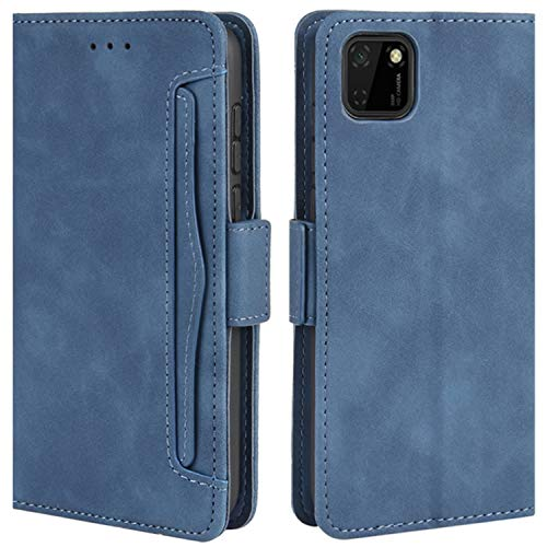 HualuBro Funda para Huawei Y5p, Funda Libro de Premium PU Cuero con Ranura para Tarjetas y Billetera Flip Cover Magnético Carcasa para Huawei Y5p Case, Azul