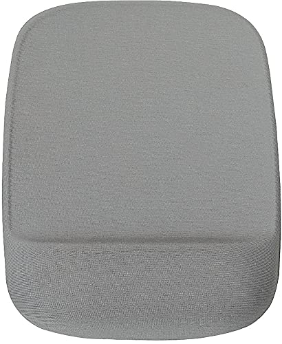 STAPLES 24339944 Mouse Pad with Gel Wrist Rest Gray
