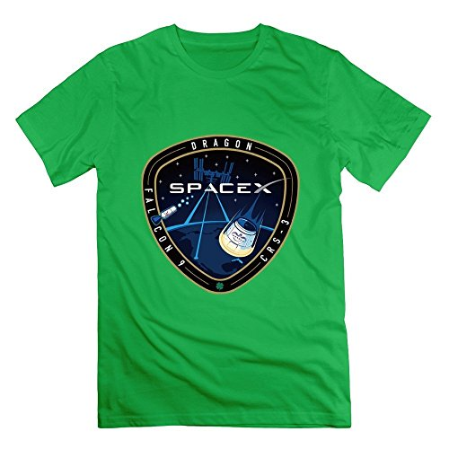 Merry Emperor SpaceX CRS-3 T-shirt White For Men