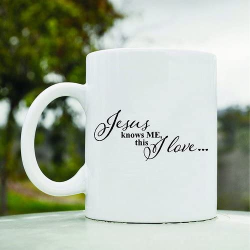 Jesus knows me this I love Cute Funny 11oz Ceramic Coffee Mug Cup product image