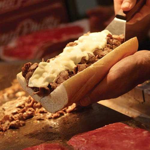 Original Philly Ribeye Seasoned Beef Sandwich Slices, 4 Ounce -- 40 per case.