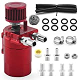 muge racing Universal Oil Catch Can Tank Kit Polish Baffled Reservoir with Breather Filter with 3/8