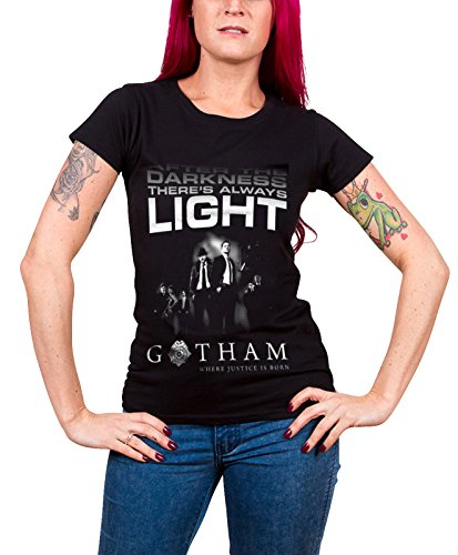 Officially Licensed Merchandise Gotham - After Darkness Girly T-Shirt (Black), Medium