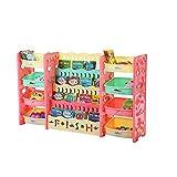 Scaffale per Bambini, Scaffale portagiochi per libri e unità di stoccaggio con dispositivo anti-ribaltamento Scaffale per giocattoli 4 livelli Scaffale per libri 4 livelli per Cameretta, Asilo