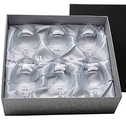 la galaica Set 6 Copas de Cristal para coñac o Brandy, colección Gastro.