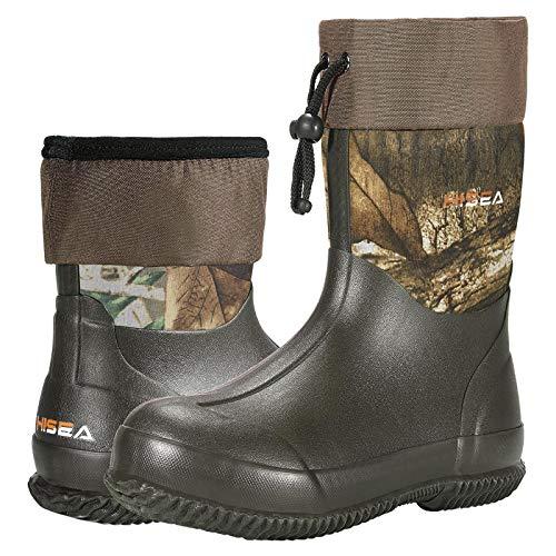HISEA Ankle Rain Boots Waterproof Garden Boots Rubber Muck Mud Boots Outdoor Work Boots for Women...