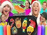 Chirstmas Pancake Art Challenge! Funnel Vision Teams Make 6 Pancakes In Under 2 Minutes!