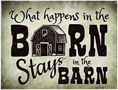 Novelty What Happens Topics on TV In The Free shipping on posting reviews Barn Metal Sign Stays