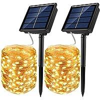 2 Pack 72 ft 200 LED JosMega Solar Fairy String Lights