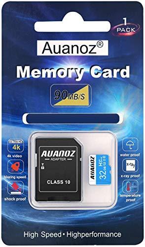 Auanoz TF-Speicherkarte 32GB, Ultra Klasse 10 Speicherkarte High Speed Speicherkarte für Telefon, Tablet und PC - mit Adapter.(Blau-32gb)