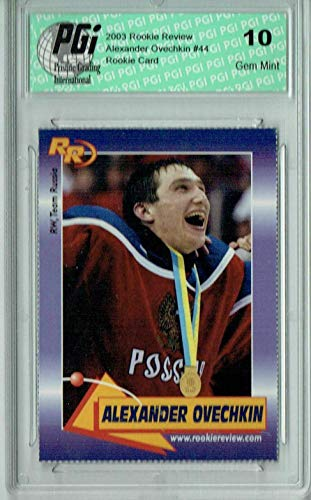 Alexander Ovechkin 2003 Rookie Review #44 Rookie Card PGI 10 - Hockey Slabbed Rookie Cards