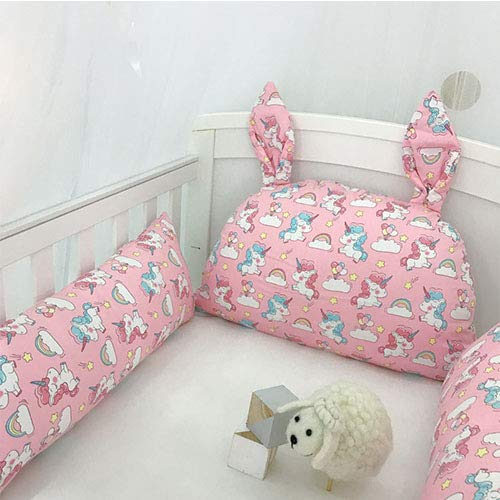 HYRL Cuna De Bebé Parachoques De Dibujos Animados Costura Cama Protectora Que Rodea Baby Cushion, Primavera Verano Otoño E Invierno, Cuna para Niños Bolsa De Cama Anticolisión