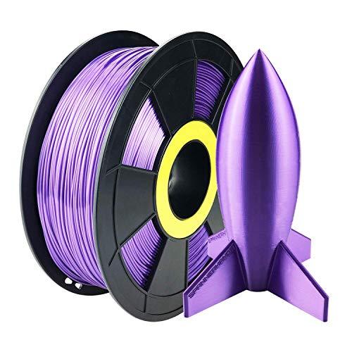 ZIRO 3D Printer Filament PLA Silky Series 1.75mm 1KG(2.2lbs), Purple