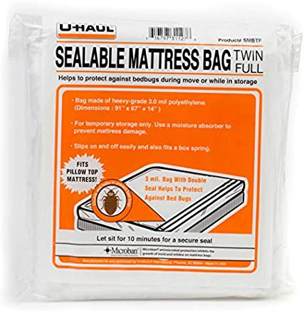 "U-Haul Sealable Mattress Bag - Fits Twin or Full Mattress - 91"" x"