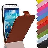 Eximmobile - Flip Hülle Handytasche für Sony Xperia Z5 in Braun | Kunstledertasche Sony Xperia Z5 Handyhülle | Schutzhülle aus Kunstleder | Cover Tasche | Etui Hülle in Kunstleder