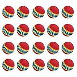 Practise Balles de golf, 20 Pcs, mousse, Rainbow, couleur, pour l'intérieur/extérieur Golf Practise