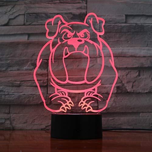 Nur 1 Trakt Hund Nachtlampe LED 3D Tischleuchte für Schlafzimmer Schlaflampe Home Decor Art Decor Kinder Geschenk
